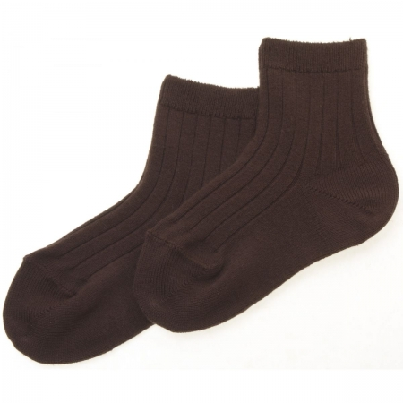 Spanish Baby Boys Brown Dress Socks