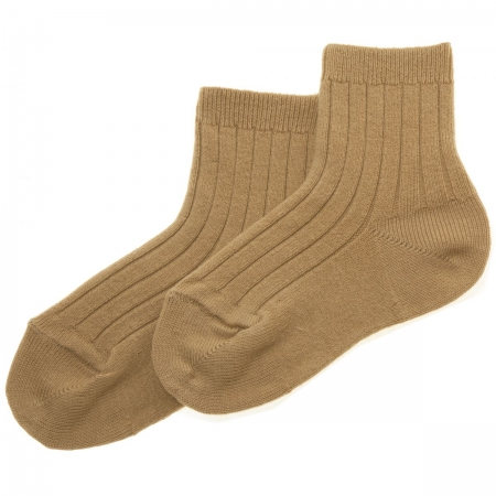Caramel Brown Baby Boys Dress Socks