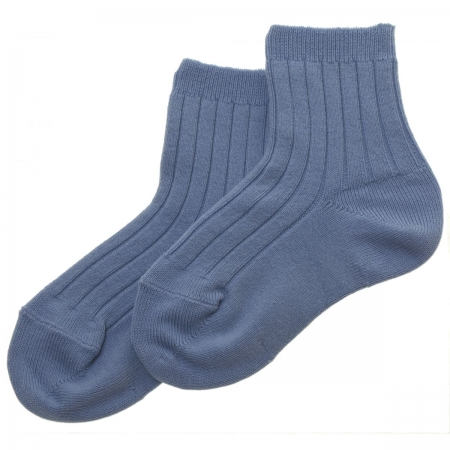 Baby Boys Dark Blue Cotton Socks