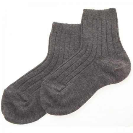 Baby Boys Grey Dress Socks