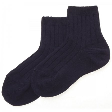 Baby Boys Navy Socks High Cotton Content
