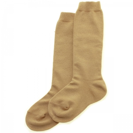 Caramel Brown Knee High Socks Made in Spain