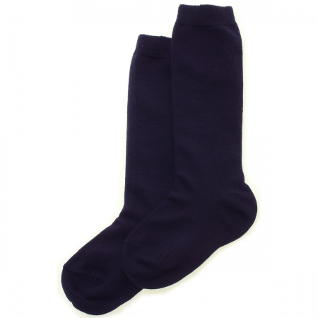 Navy Knee High Socks Made in Spain