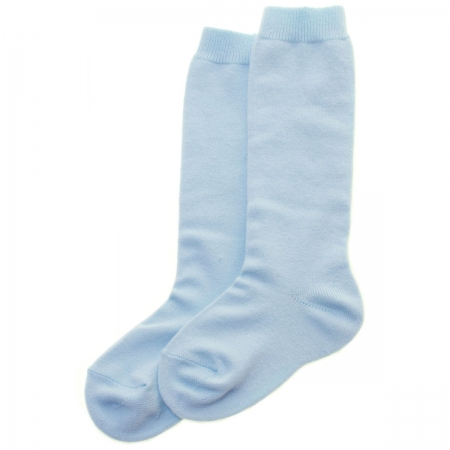 Blue Knee High Socks Made in Spain