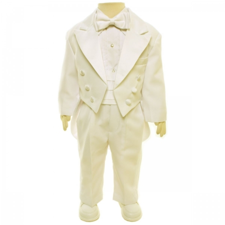 Baby Boys Tail Suit In Ivory