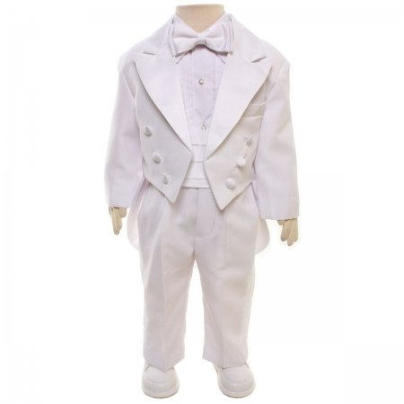 Baby Boys Tail Suit In White