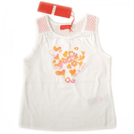 E05525 ELLE girl t shirt in WHITE