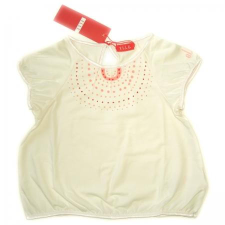 E15695 ELLE girl top in IVORY