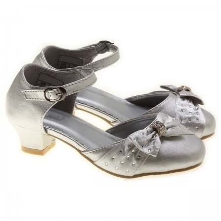 Special Occasions Girls Silver Shoes