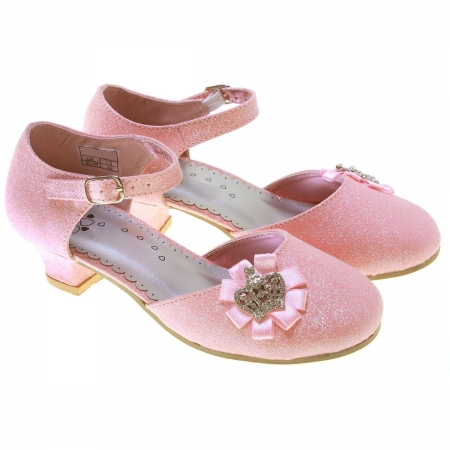 Princess Glitter Girls Pink Party Shoes