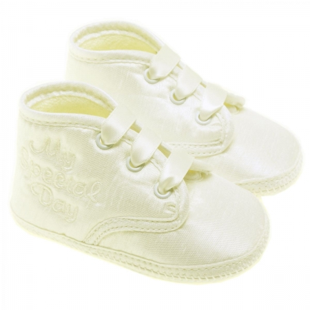 Baby Boys Ivory Christening Shoes For My Special Day