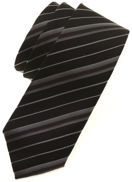 Boys fashion tie in black and silver pattern
