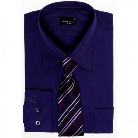 High quality boys purple shirt with tie set cachet kids for Ties that go with purple shirts