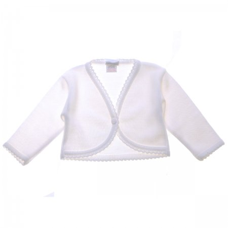 Made in Portugal Baby Girls White Bolero