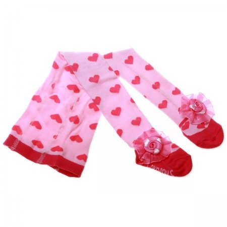 Baby Girls Pink Tights With Pink Bow