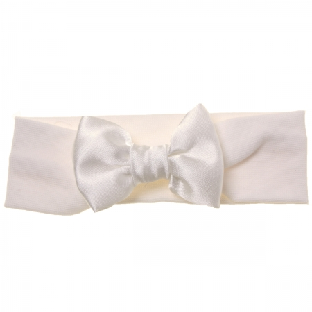 Hair band with bow in ivory for baby and bigger girls