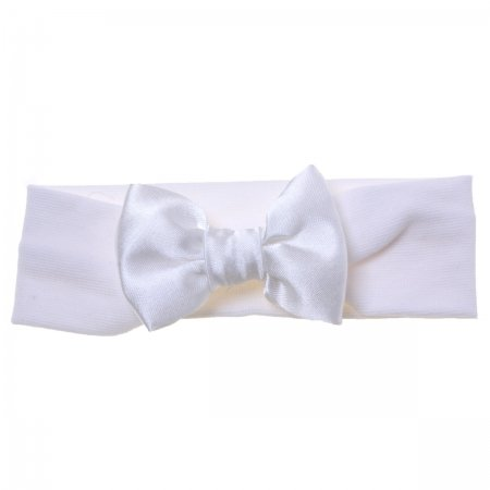 Hair band with bow in white for baby and bigger girls
