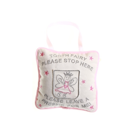 Please leave a pressie for me soft pink pillow