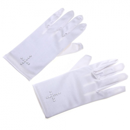 Swarosvski Crystals Cross Communion Gloves