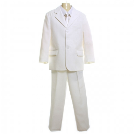 5005 Boys suit set in white 3 piece