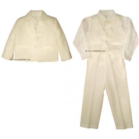 Baby boys and boys suit set in ivory 5 piece boys christening suits