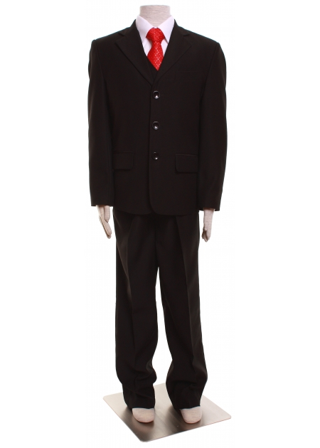 Boys black five piece suit set