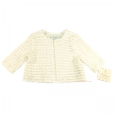 Little Darlings christening cardigan in ivory