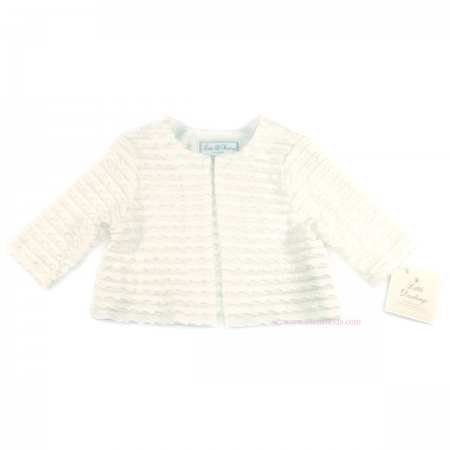 Little Darlings christening cardigan in white