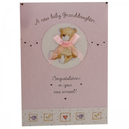 Congratulations on A New Baby Granddaughter Card