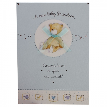 Congratulations on A New Baby Grandson Card