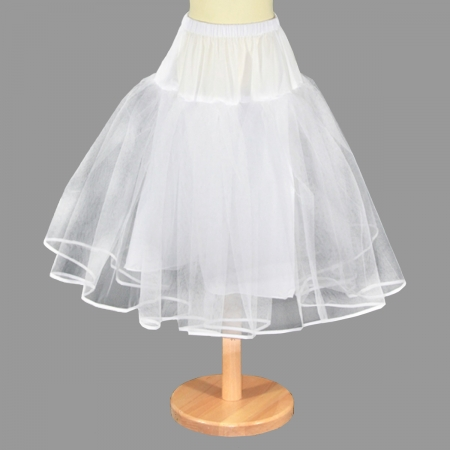 White Petticoat Underskirt with Net