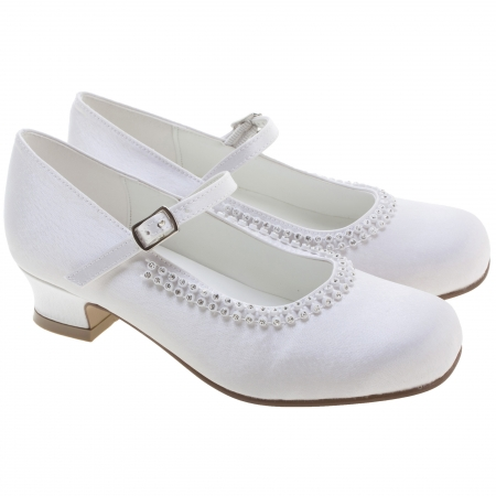 Girls Communion Shoes Diamantes Decoration