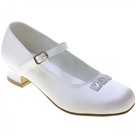 First Holy Communion Shoes With Three Diamantes