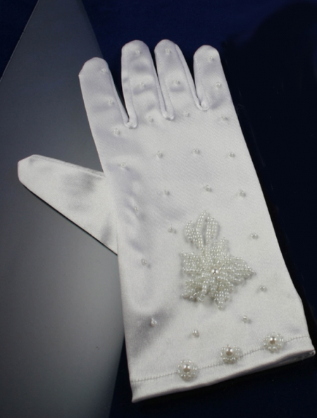 Childs White Gloves 7 To 14 Years