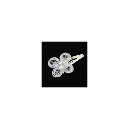 Linzi Jay Elegant Hair Clip With Beads And Crystal Butterfly