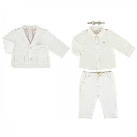 Mayoral Baby Boys Ivory Smart Suit Outfit