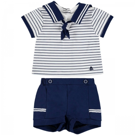 Mayoral Baby Boys Navy White Sailor Outfit