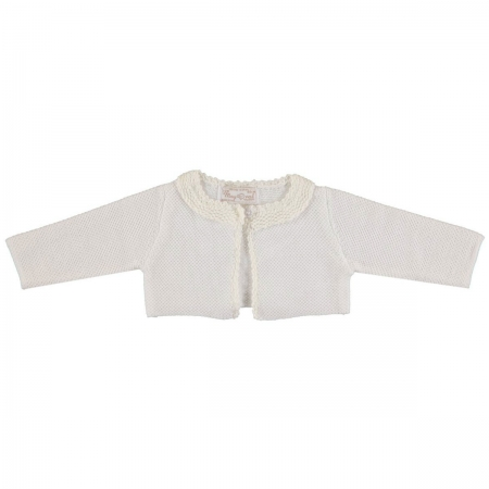 Mayoral Baby Girls Knitted Ivory Bolero