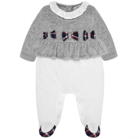 Mayoral Baby Girls Grey Off White One Piece Outfit Autumn Winter