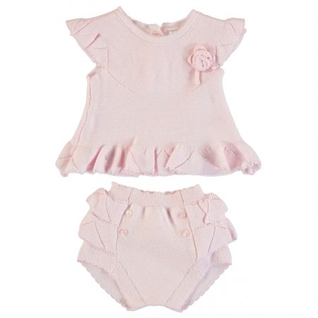 Mayoral Spring Summer Baby Girls Pretty Knitted Top And Shorts Set