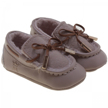 Mayoral Baby Boys Light Brown or Mink Colour Mocassin Shoes