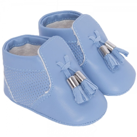 Mayoral Baby Boys Blue Pram Shoes With Tassels