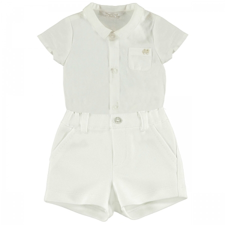 c3aa9ceaa Mayoral Baby Boys Ivory Romper And Shorts Set
