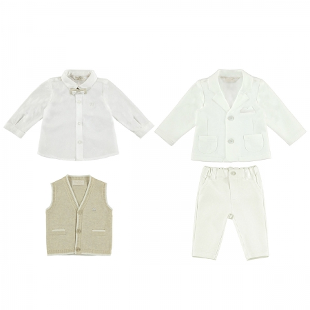 Baby Boys Christening And Special Occasions Ivory Suit From Mayoral