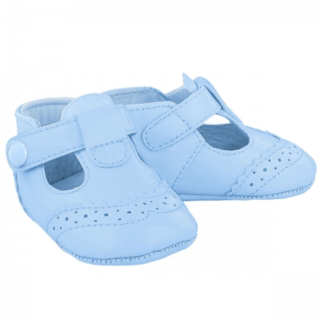 Mayoral Baby Boys Blue T Bar Pram Shoes