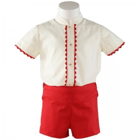 Sale Miranda Baby Boys White Top Red Shorts Outfit