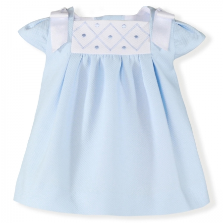 Spring Summer Miranda Baby Blue Dress White Bows
