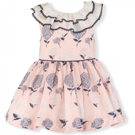 Miranda Spring Summer Girls Pink Navy Floral Dress