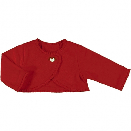 61128 Mayroral baby girls red bolero