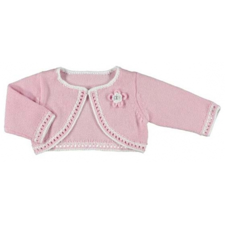 Mayoral Baby Girls knitted Pink Bolero Cardigan